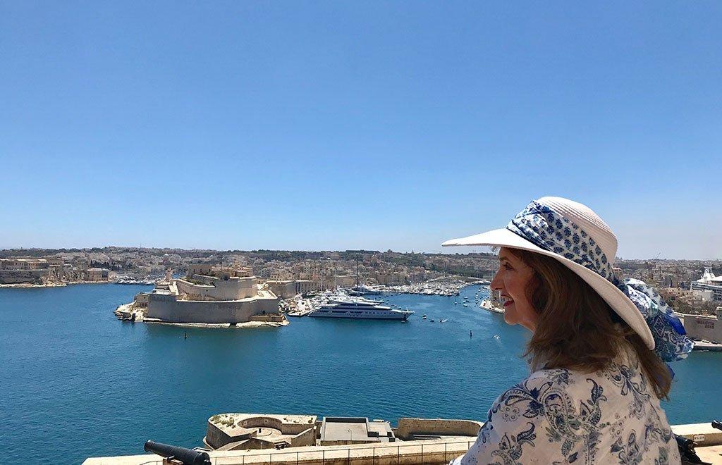 Karin Laing in Malta