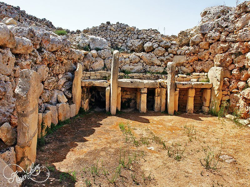 L'Gharix Temple Retreat is located next to the Ggantija Temples Gozo