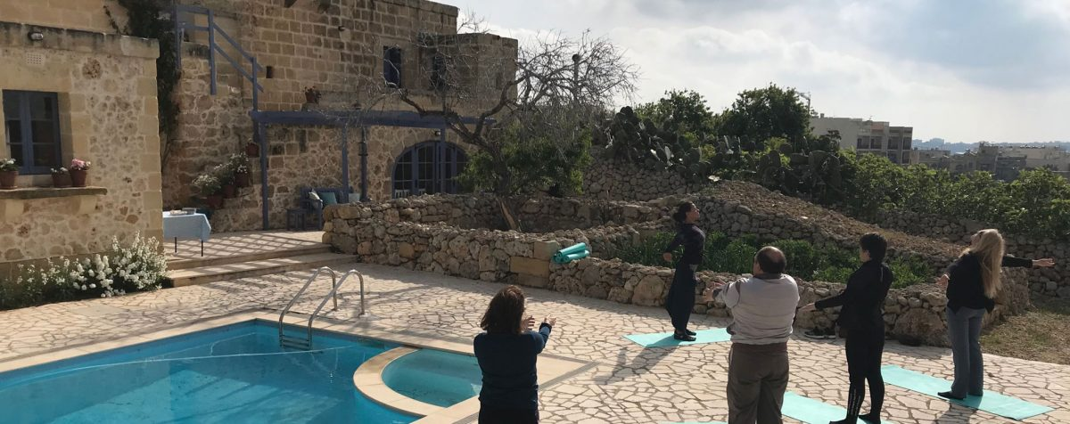 Yoga at Love to Be Loved Workshop at L'Gharix Temple Retreat Gozo