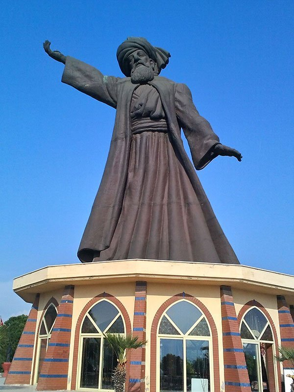 Statue of Jalil ad-Din Rumi - 13th Century Persian poet