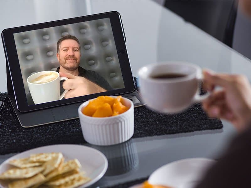 Include sharing meals over video chat in your Daily Wellbeing Plan