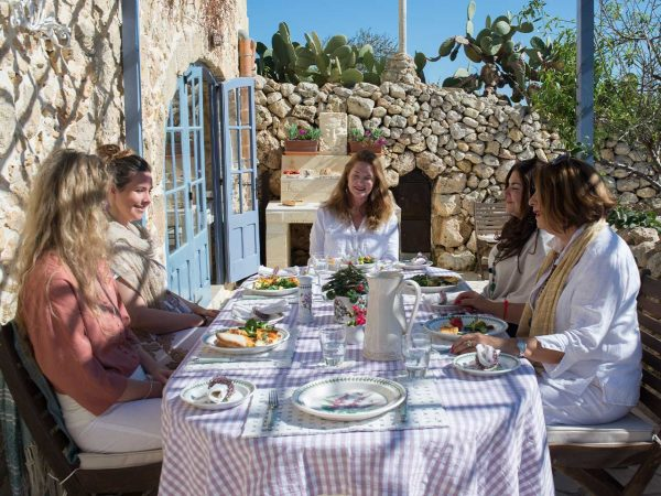 Lunch at L'Gharix group workshops and retreats, Gozo