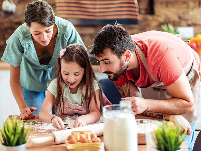 plan and prepare meals as a family as part of your daily wellbeing plan