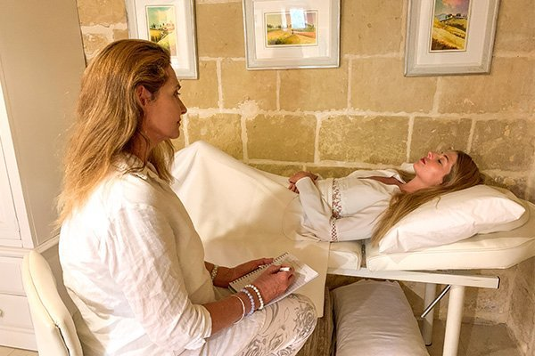 Transpersonal Hypnotherapy session at L'Gharix Temple Retreat Gozo Malta