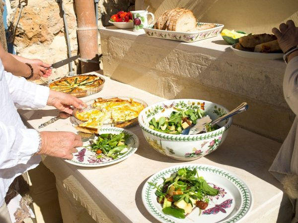 Vegan and vegetarian lunch at L'Gharix Temple Retreat, Gozo, Malta