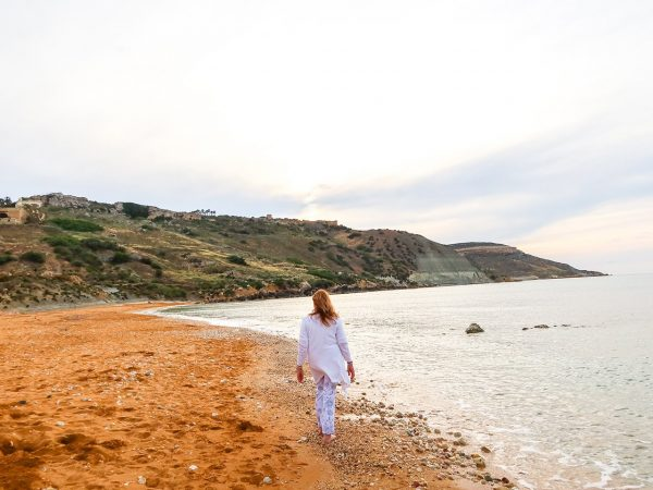 Beautiful beach walks at inner healing retreat in Gozo