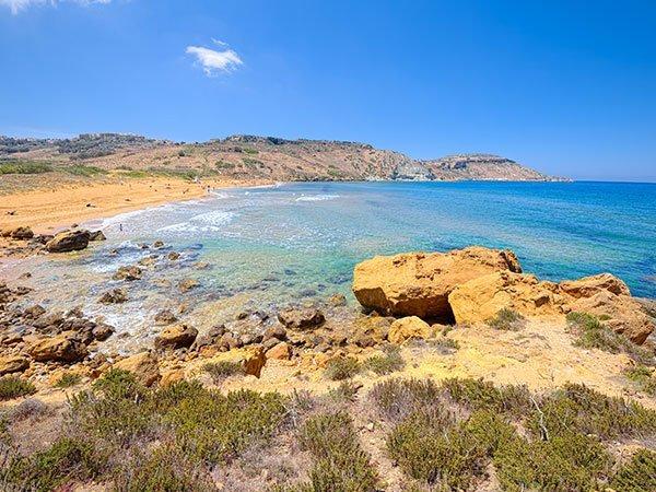 Ramla bay, Xaghra, Gozo