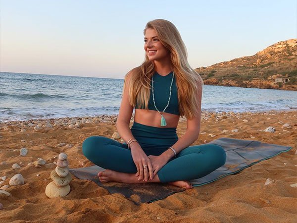 Sunset Meditation at the beach, Gozo retreats