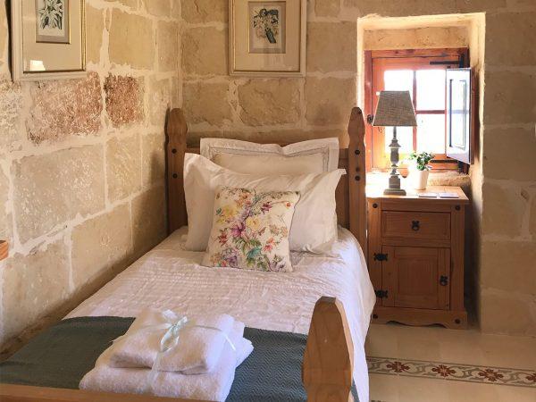 Orchid Bedroom - retreat accommodation, Gozo & Malta